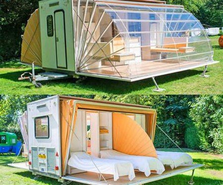 De Markies Fold Out Awnings Camping Trailer