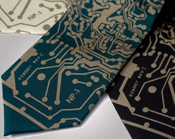 Circuit Board Tie, computer programmer gift