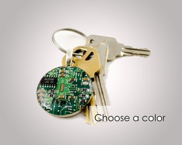 Computer Circuit Board Keychain