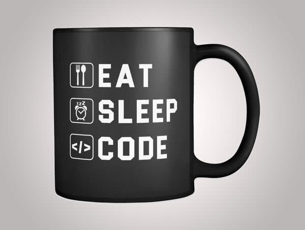Eat Sleep Code Mug - Gifts For Programmer Boyfriend