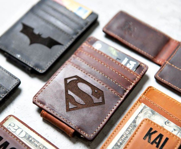 Hero Inspired Personalized Leather Magnetic Money Clip