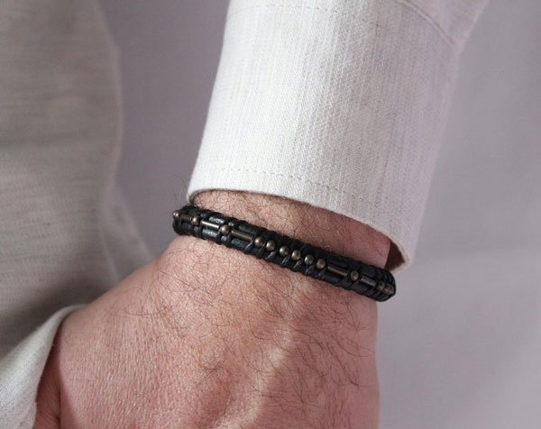 Personalized morse code Message bracelet