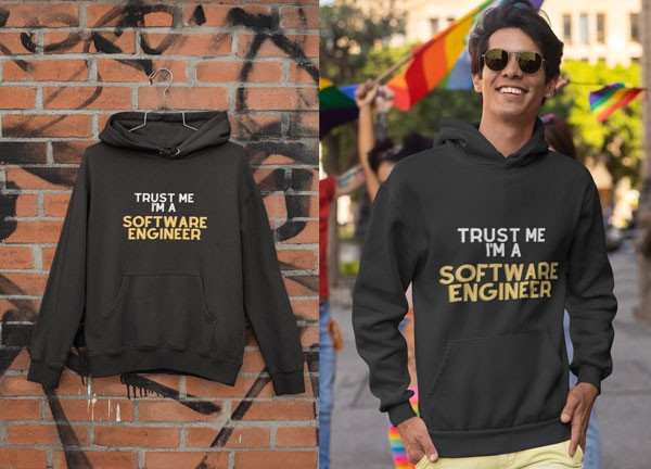 Trust Me, I am a Software Engineer | Coding Hoodie - Gifts For Programmer Boyfriend