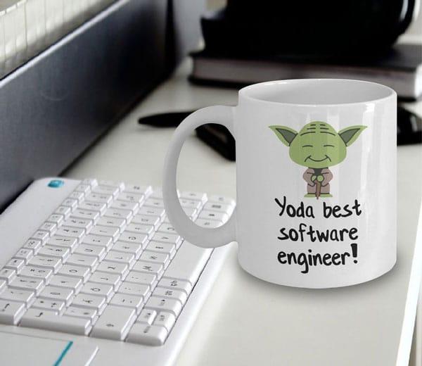 Yoda Best Software Engineer Mug - Gifts For Programmer Boyfriend