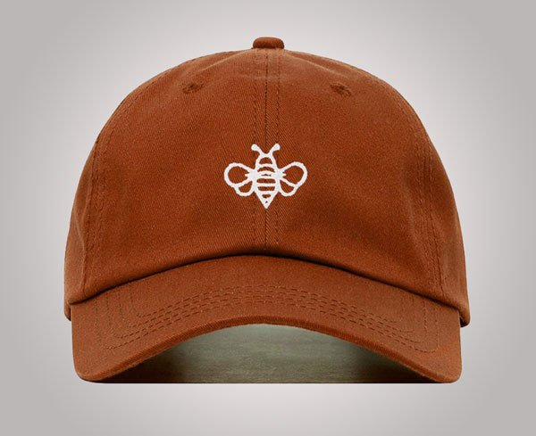 Bee Baseball Hat, Embroidered