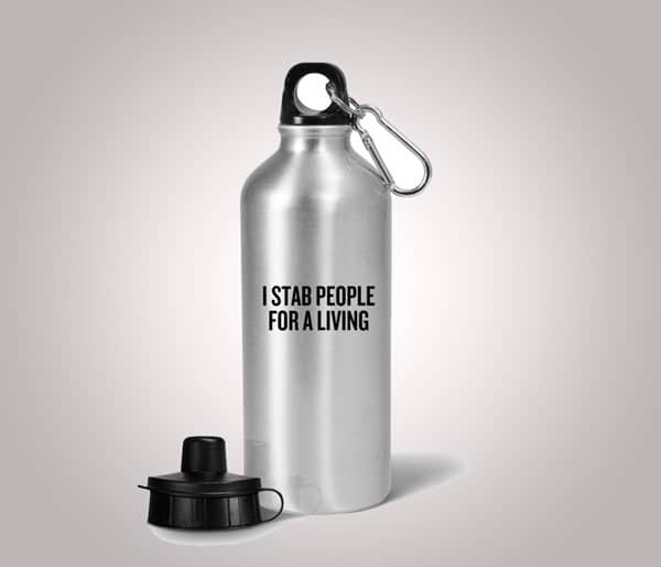 Funny Acupuncture Water Bottle