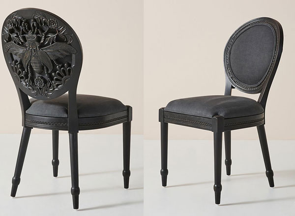 Handcarved Queen Bee Dining Chair