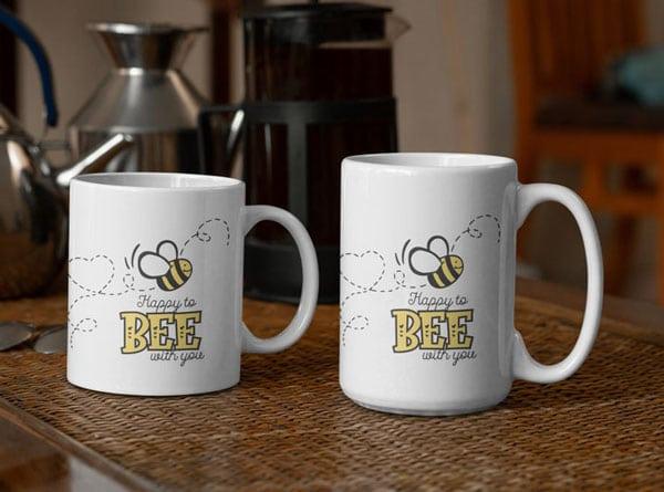 Happy to Bee With You Mug