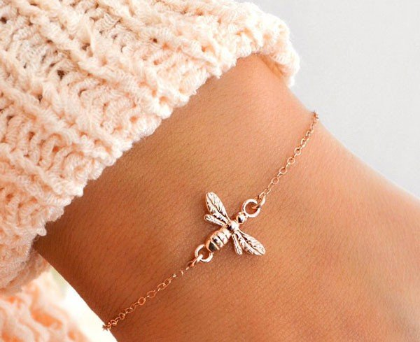 Honey Bee Bracelet Sterling Silver