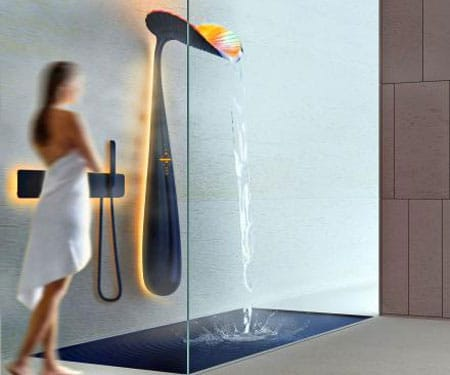 Ora Leaf-Shaped Shower Panel