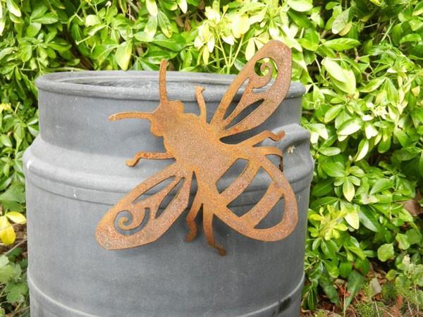 Rusty Metal Honey Bee Garden Decor