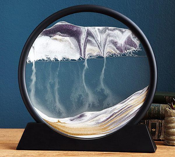 calming deep sea sand art desk sculpture