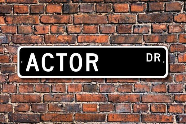 Actor Street Sign Home Decor - gifts for actors
