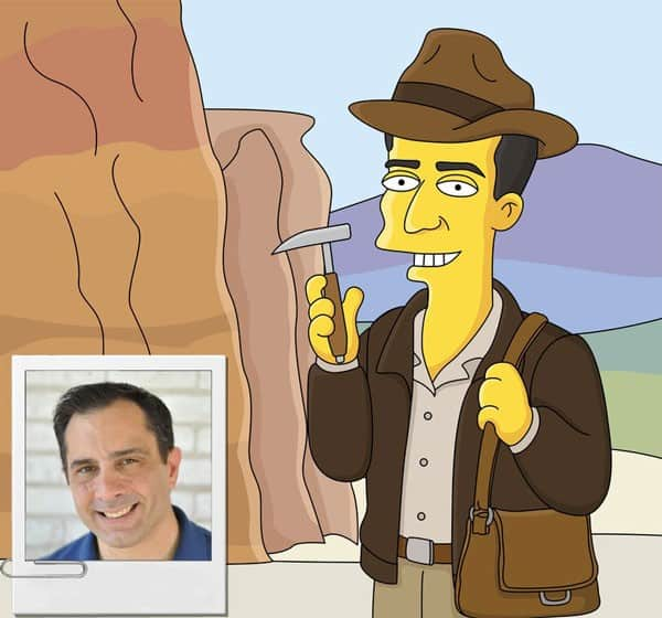 Archeologist Gift - Custom Portrait as Cartoon Character
