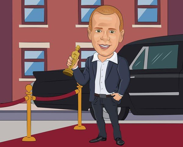 Custom Caricature Portrait From Your Photo - Gifts For Actors
