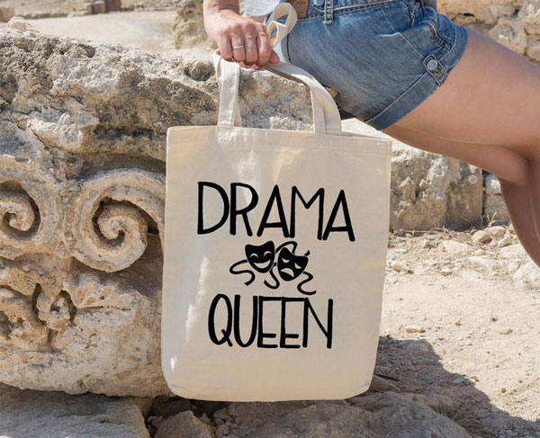 Drama queen, Organic cotton tote bag - gifts for actors