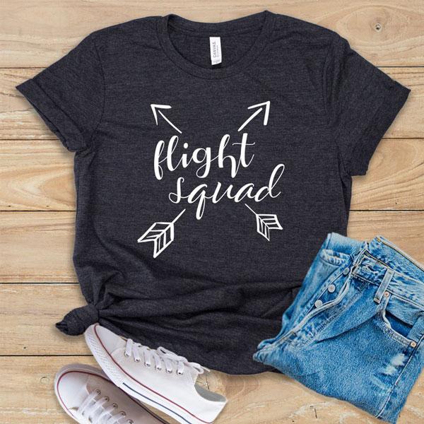 Flight Squad - Flight Attendant Shirt, Tank Top, or Hoodie - Gifts For Flight Attendants