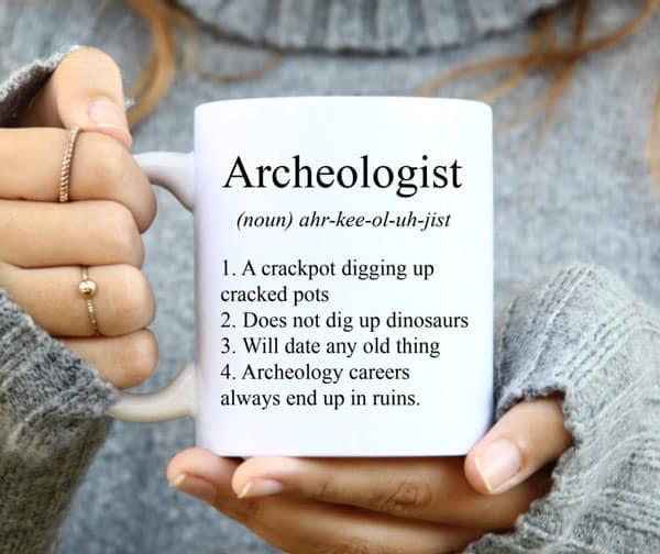 Funny Archeologist Definition Coffee Mug Gift