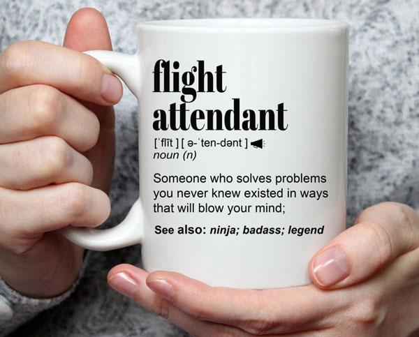 Funny Flight Attendant Gift Mug For Women and Men