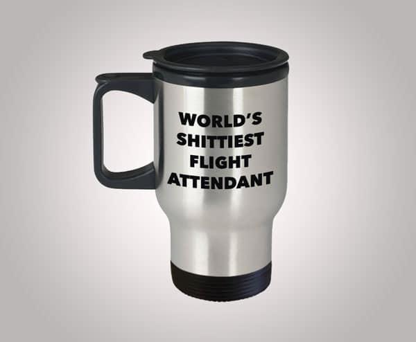 Funny Flight Attendant Travel Mug