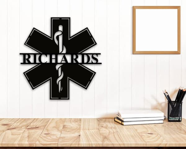 Personalized EMT Metal Name Sign
