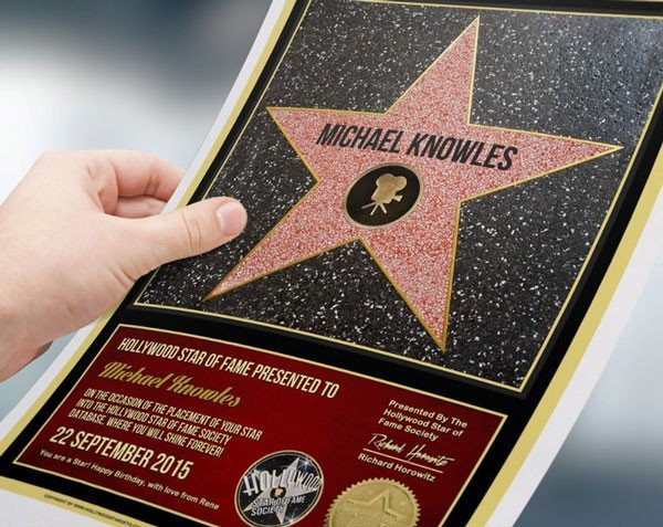 Personalized Hollywood Star Actor Gift - Gifts For Actors