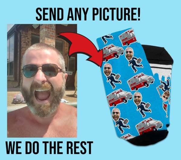 Personalized Photo Paramedic Gift Socks - Gifts For Paramedics