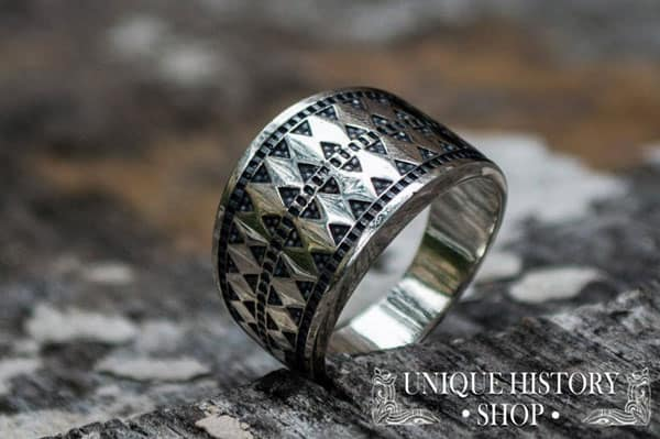 Ring based on real Archeological Findings Handcrafted Sterling Silver