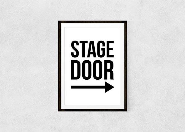 Stage Door, Art Print