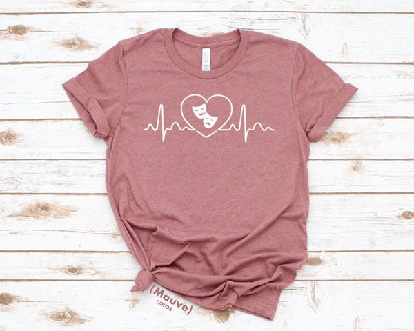 Theatre Love Heartbeat Wave Shirt