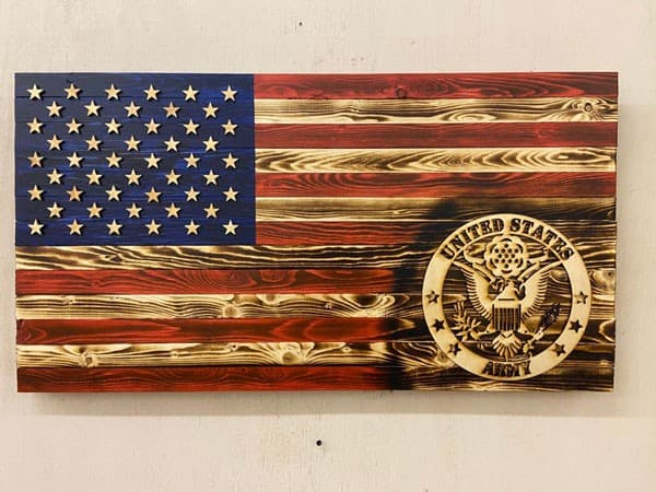 Army Wooden Flag