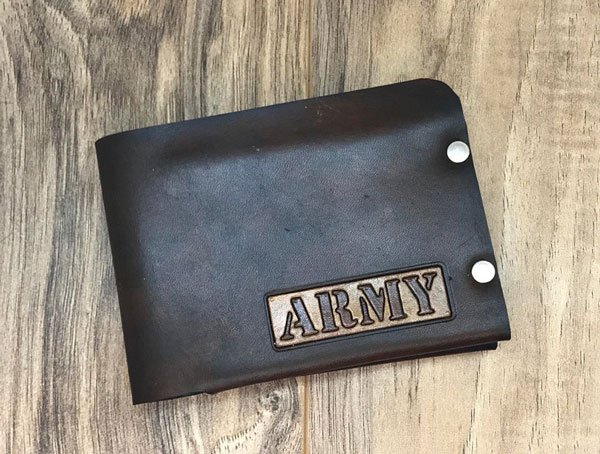 Army Gift - Men's Leather Wallet - Gifts For Army Soldiers