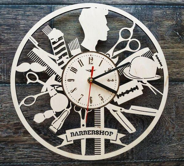 Barber Shop Wall Art Clock