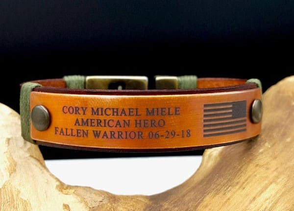 Custom Engraved Copper Military Bracelet - Gifts For Army Soldiers
