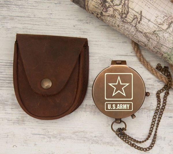 Deployment Gift Personalized US Army Engraved Compass