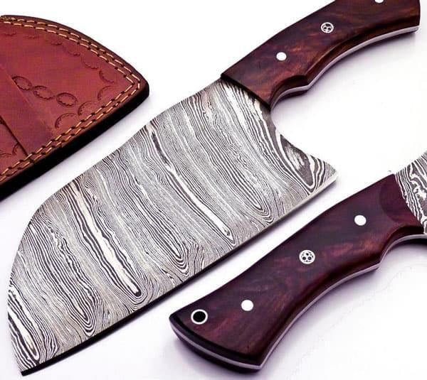 Handmade Damascus Steel Trusted Butcher Cleaver