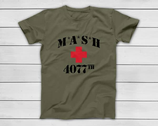 MASH 4077th Classic American TV Series T-Shirt - Gifts For Army Soldiers
