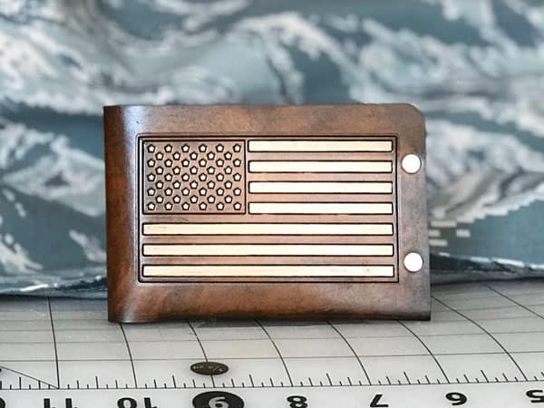 Men's American Flag Wallet - Gifts For Army Soldiers