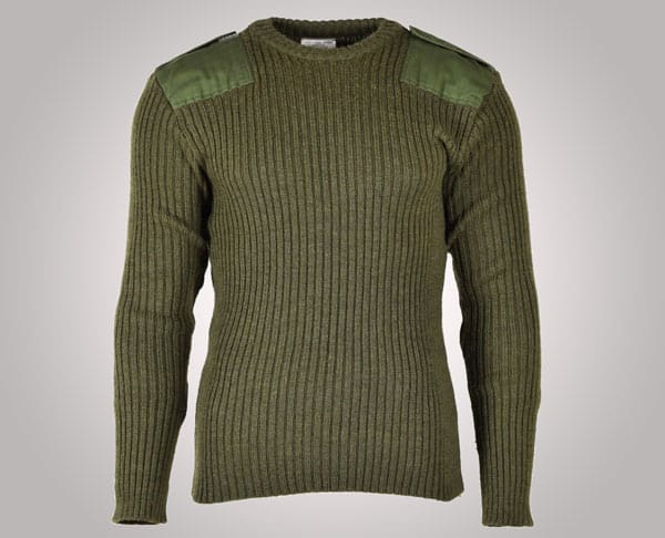 Original Commando Olive Green British Army pullover - Gifts For Army Soldiers