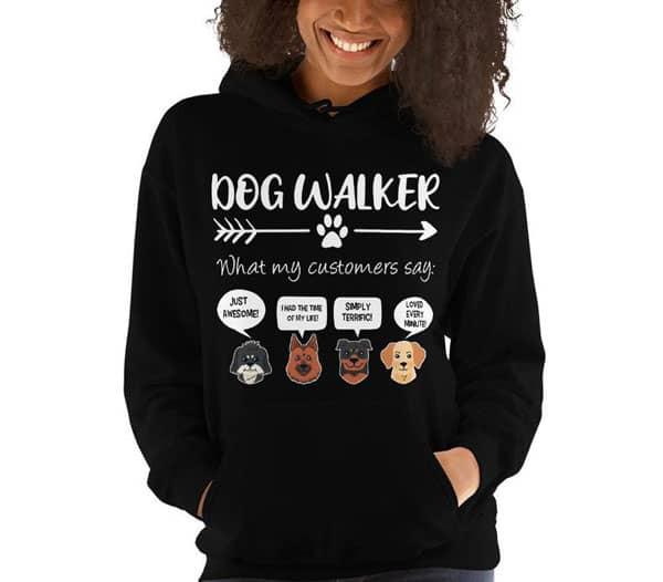Dog Walker Hoodie Funny Dog Walker Gift