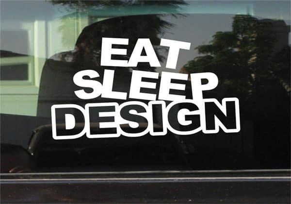 Eat Sleep Design Custom Vinyl Sticker