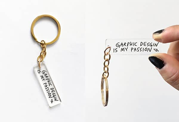 Graphic Design Keychain