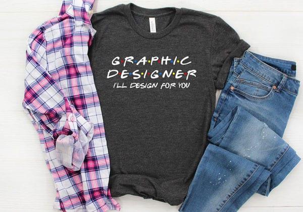 Graphic Designer Friends Parody Shirt