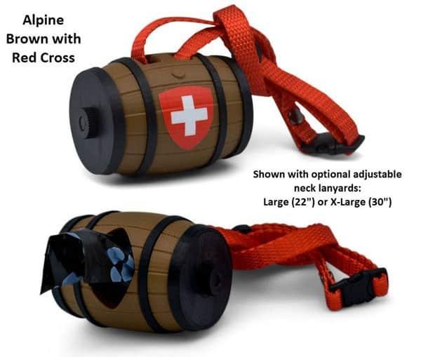 Swiss Barrel poop bag dispenser