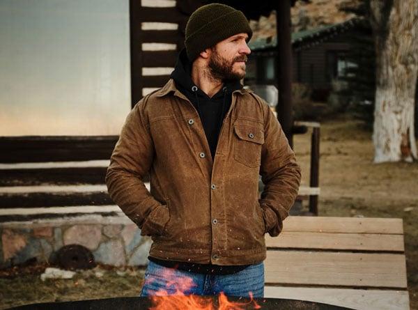 Flint and Tinder Waxed Trucker Jacket