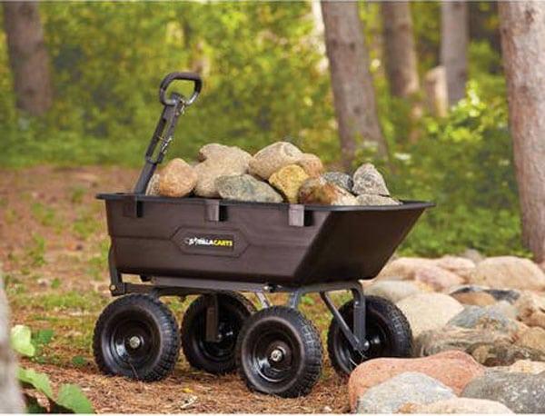 Gorilla Carts 1200-lb Heavy-Duty Poly Dump Cart