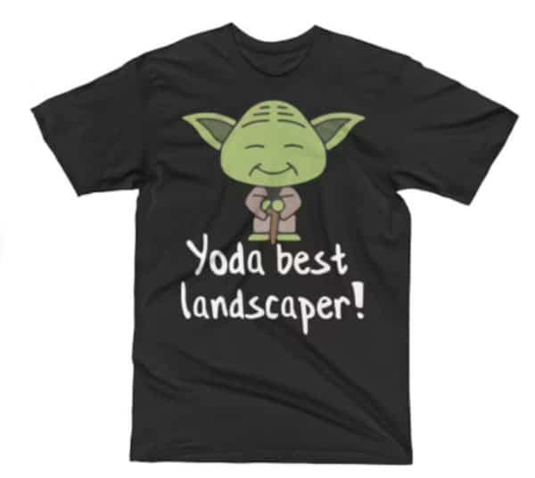 Yoda Best Landscaper Pun Tee Shirt