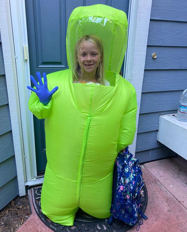 Inflatable Halloween Hazmat Suit Costume