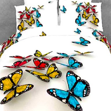3-D Butterfly Bed Set