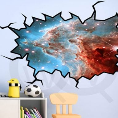 40 Coolest 3D Wall Decals & Stickers For Bedrooms